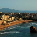 Biarritz Strand Abend