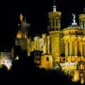 Lyon Basilique Notre Dame Nacht