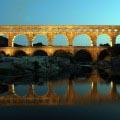 Pont du Gard Sonnenuntergang